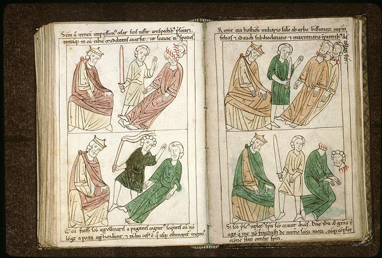 Bible en images - Empereur et la décollation de saint Prisque de Capoue_0