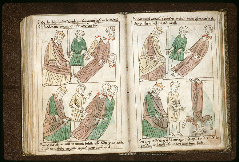 Bible en images - Dioclétien et la décollation de saint Gorgon et de saint Dorothée_0
