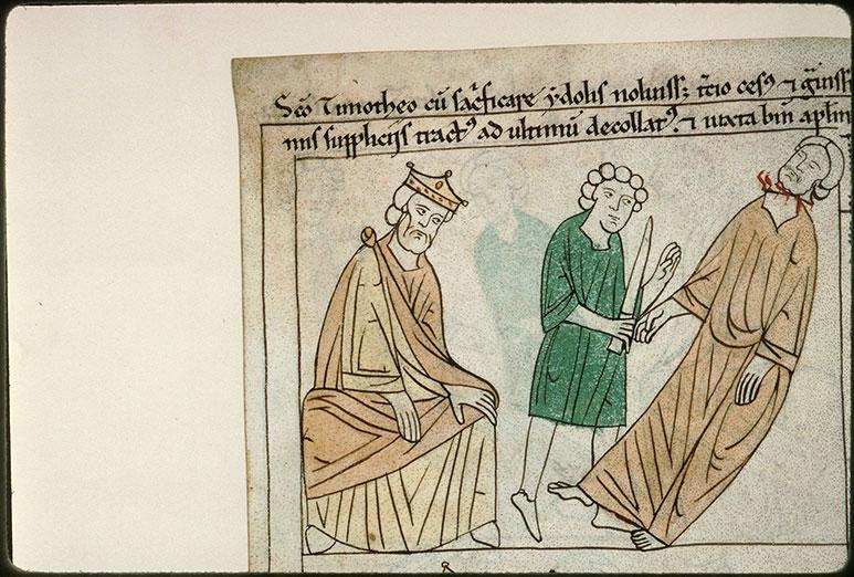Bible en images - Dioclétien et la décollation de saint Timothée d'Antioche_0