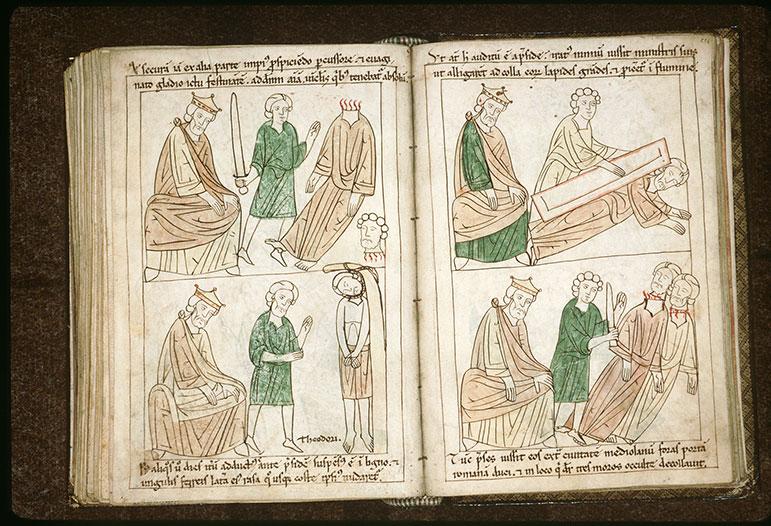 Bible en images - Dioclétien et la décollation de saint Genès d'Arles_0