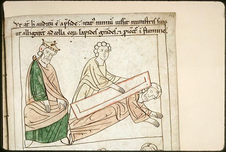 Bible en images - Dioclétien et le martyre de saint Aciscle_0
