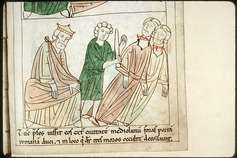 Bible en images - Néron et la décollation des saints Nazaire et Celse_0