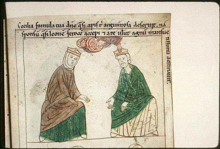 Bible en images - Sainte Cécile et saint Valérien couronnés par un ange_0
