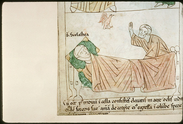 Bible en images - Saint Benoît et la mort de sainte Scolastique_0