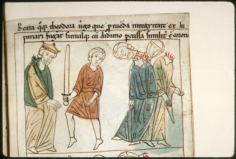 Bible en images - Dioclétien et la décollation de sainte Théodora et de saint Didyme_0