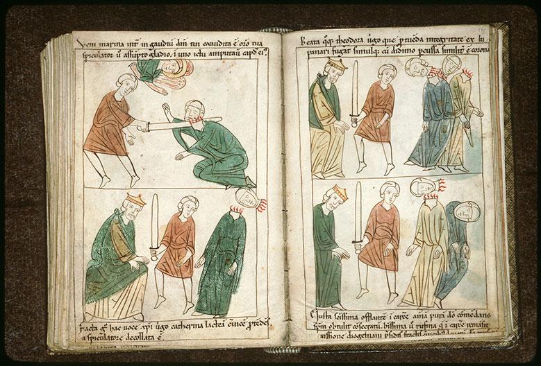 Bible en images - Diogenianus et le martyre de sainte Juste et de sainte Rufine_0
