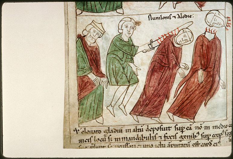 Bible en images - Abd al-Rahman II et la décollation des saintes Nunilo et Alodie_0