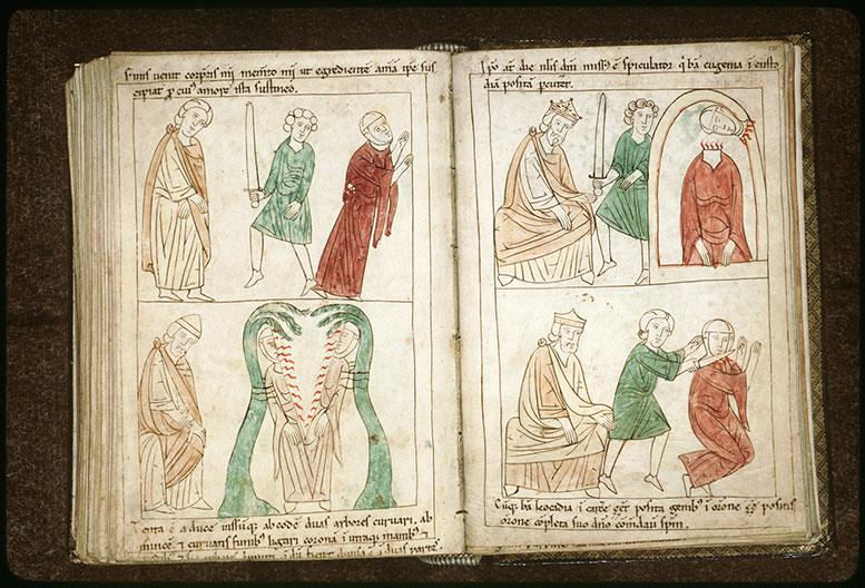 Bible en images - Gallien et la décollation de sainte Eugénie en prison_0
