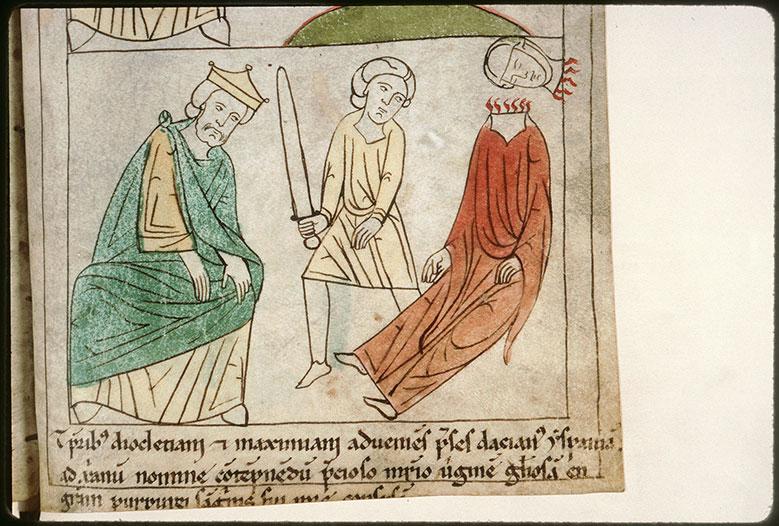 Bible en images - Dioclétien et la décollation de sainte Engrace_0