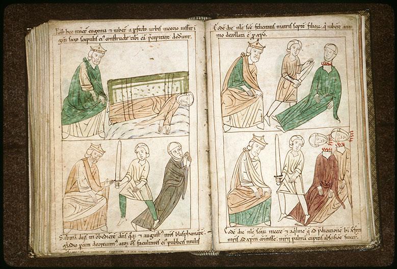 Bible en images - Dagnus et la décollation des saintes Nicée et Aquilinie_0