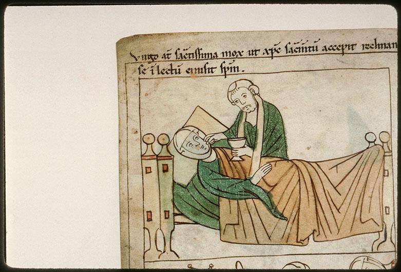 Bible en images - Sainte Pétronille recevant la communion_0