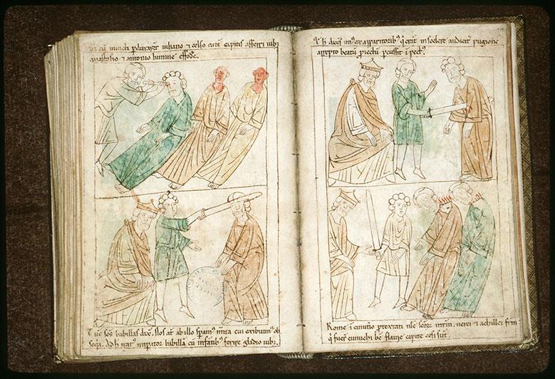 Bible en images - Empereur et décollation de saint Nérée et de saint Achillée_0