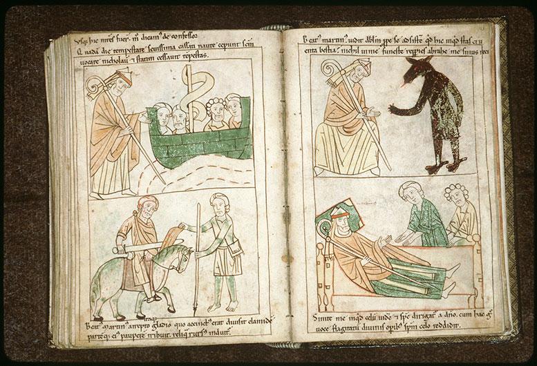 Bible en images - Saint Martin et le diable_0