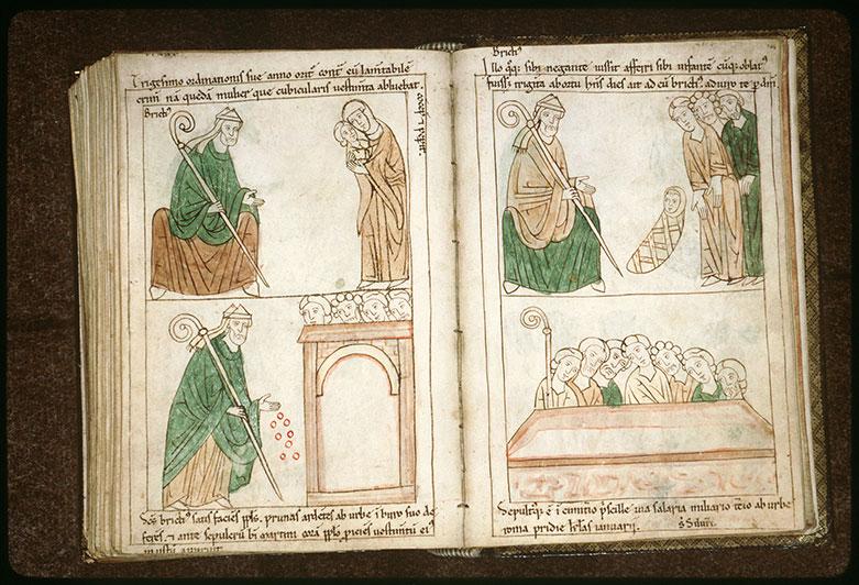 Bible en images - Saint Brice et l'enfant dont on l'accuse d'être le père_0