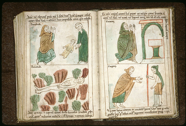 Bible en images - Saint Benoît mortifiant sa chair_0