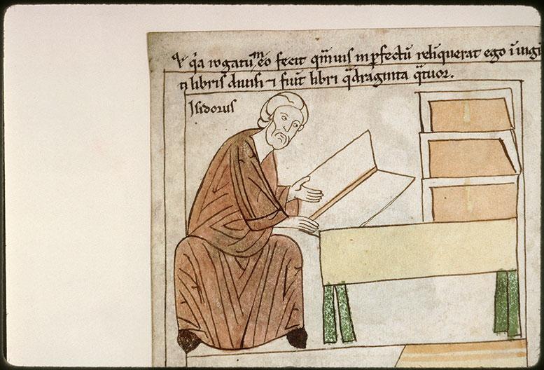Bible en images - Saint Isidore de Séville divisant ses 'Etymologies' en livres_0