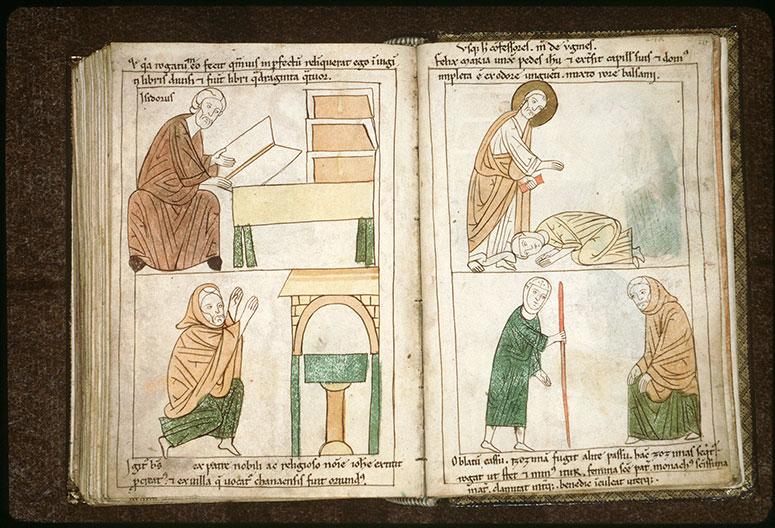 Bible en images - Rencontre de sainte Marie l'Egyptienne et de saint Zosime_0