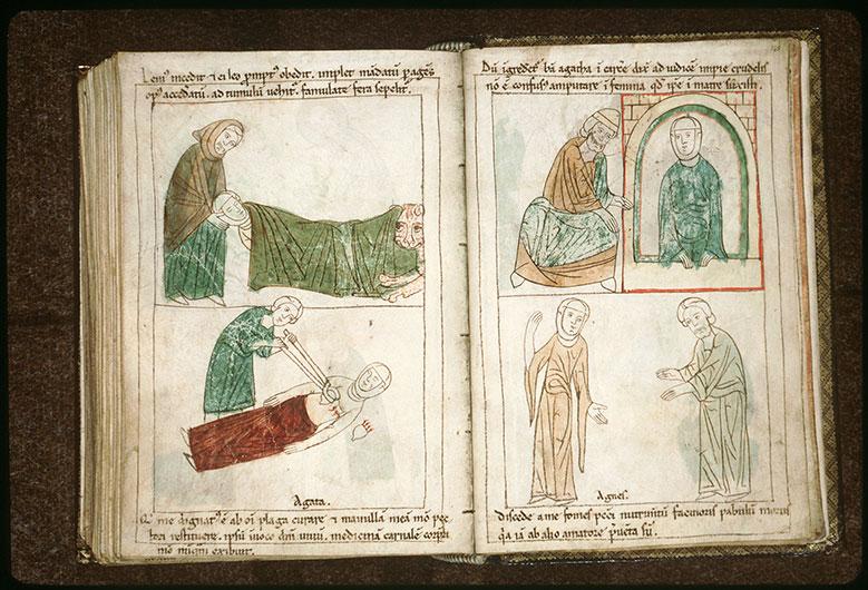 Bible en images - Quintien s'adressant à sainte Agathe en prison_0