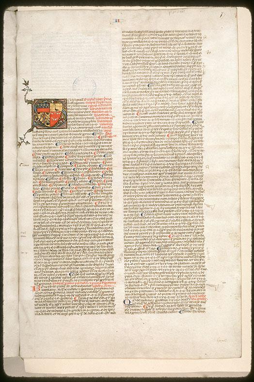 Speculum judiciale/Repertorium juris canonici - Armes d'Etienne de Conty_0