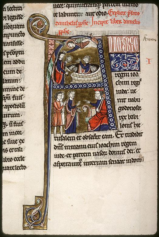 Bible (partie de) - Daniel dans la fosse aux lions secouru par Habacuc/Nabuchodonosor interrogeant Daniel (à préciser)_0