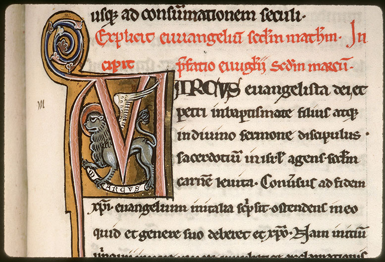 Bible (partie de) - Lion de saint Marc_0