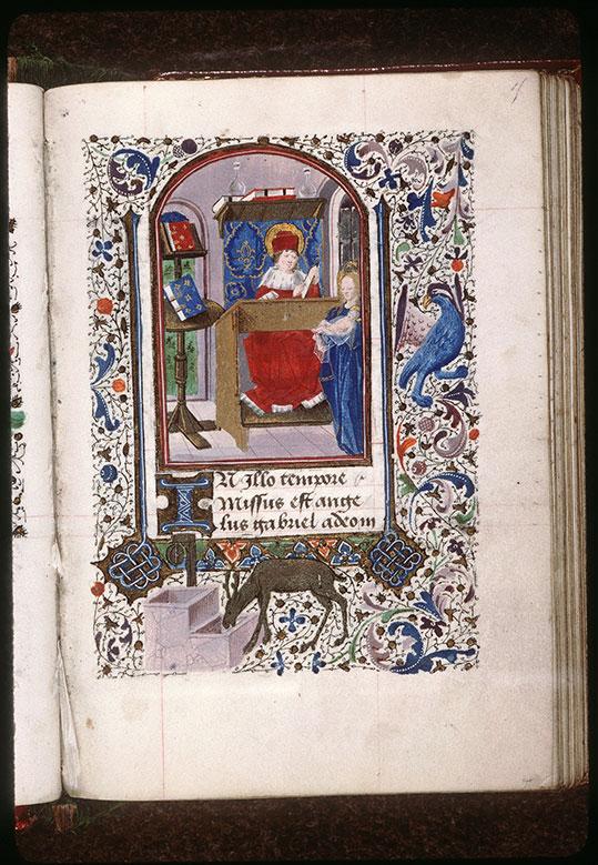 Heures à l'usage de Paris - Saint Luc peignant la Vierge à l'Enfant_0
