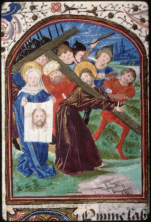 Heures à l'usage de Paris - Portement de croix et sainte Véronique_0