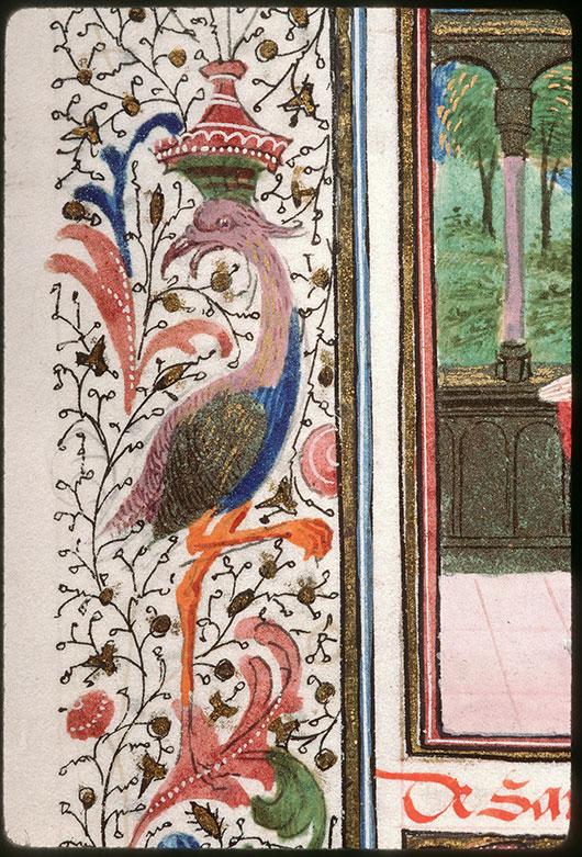 Heures à l'usage de Paris - Oiseau/Hybride anthropomorphe musicien_0