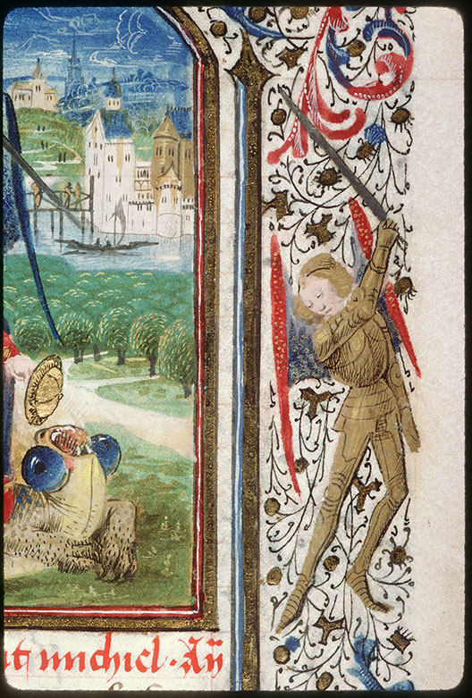 Heures à l'usage de Paris - Saint Michel terrassant le dragon/Saint Michel terrassant le diable (à préciser)_0