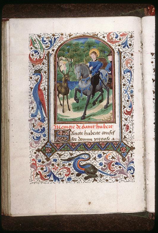 Heures à l'usage de Paris - Conversion de saint Hubert_0
