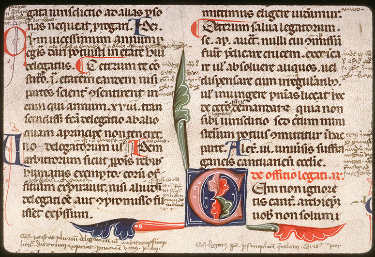 Decretales - Initiale ornée_0