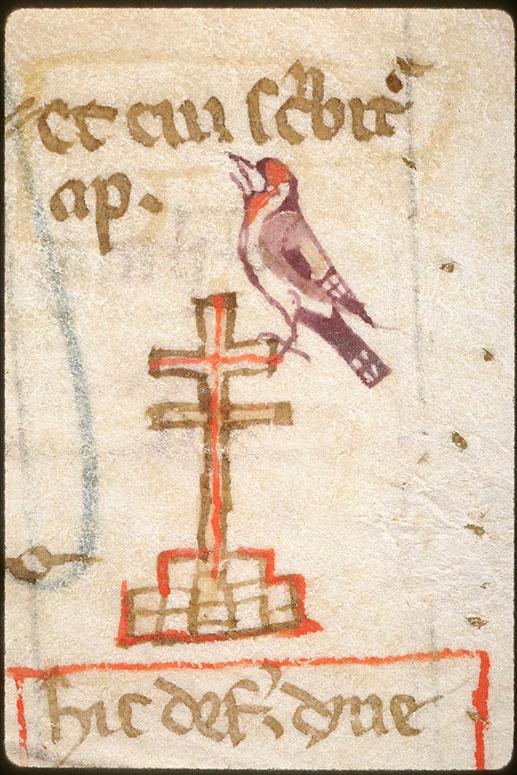 Summa super titulis Decretalium - Oiseau sur une croix_0