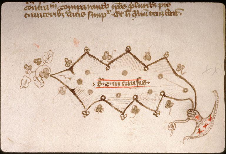 Novella in Decretales Gregorii VIIII - Main tenant une feuille_0