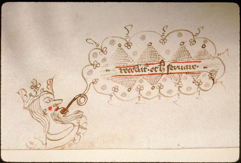 Novella in Decretales Gregorii VIIII - Tête couronnée_0