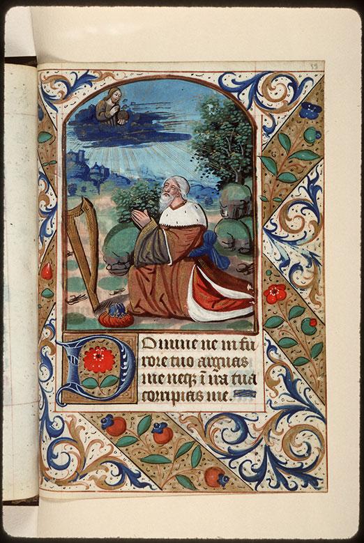 Heures à l'usage d'Amiens - David priant Dieu_0