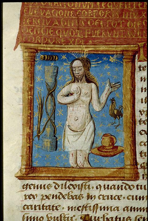 Heures à l'usage de Cluny - Christ souffrant et instruments de la Passion_0