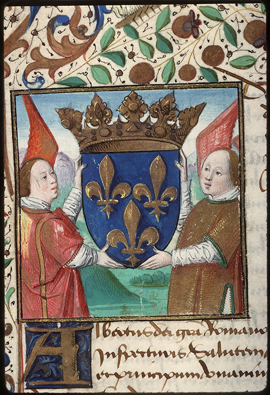 ? - Page décorée, avec armes de la ville d'Amiens_0