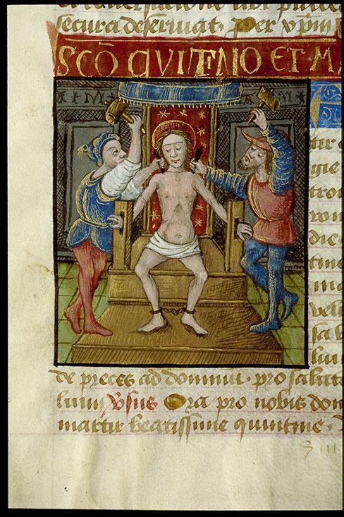 Heures à l'usage de Cluny - Martyre de saint Quentin_0