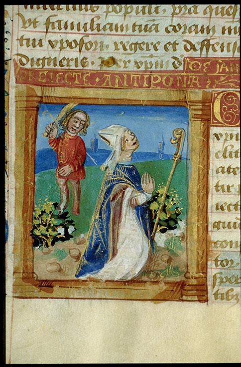 Heures à l'usage de Cluny - Martyre de saint Priest_0