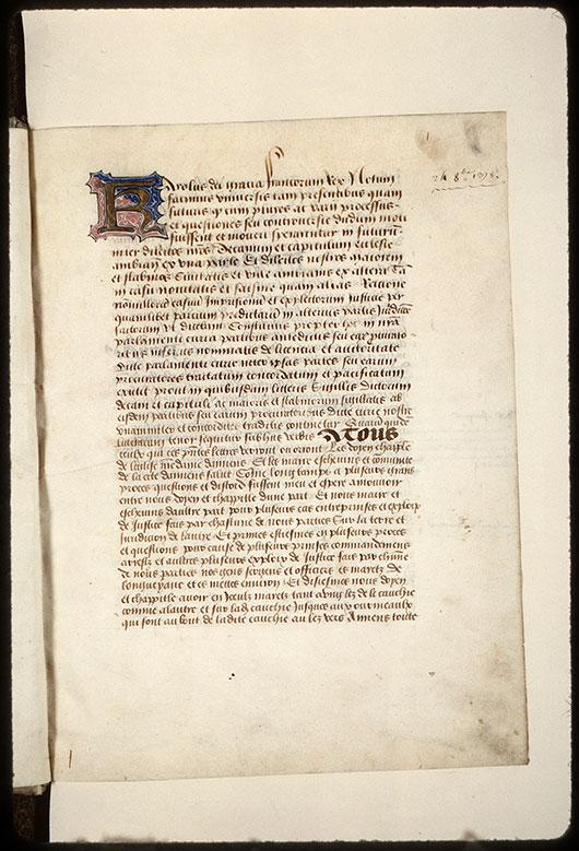 Cartulaire de la ville d'Amiens - Initiale champie_0