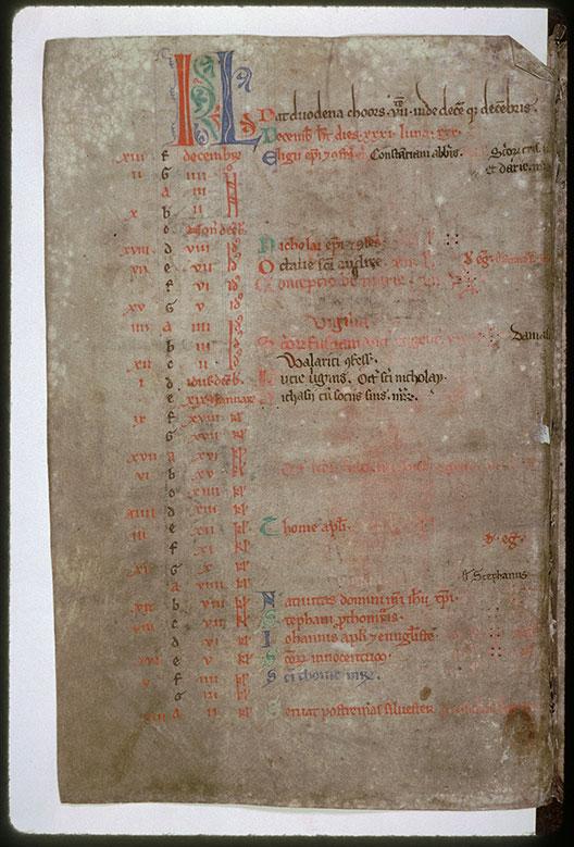 Psautier-hymnaire à l'usage de l'abbaye Saint-Fuscien-aux-Bois - Initiales de couleur et ornées_0