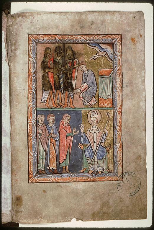 Psautier-hymnaire à l'usage de l'abbaye Saint-Fuscien-aux-Bois - Martyre de saint Thomas Becket_0