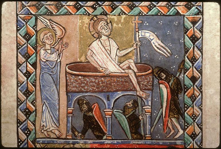 Psautier-hymnaire à l'usage de l'abbaye Saint-Fuscien-aux-Bois - Résurrection du Christ_0