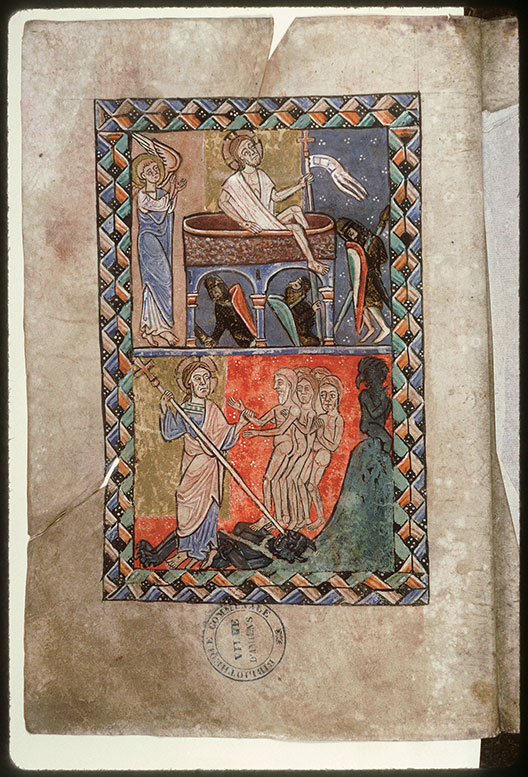 Psautier-hymnaire à l'usage de l'abbaye Saint-Fuscien-aux-Bois - Descente aux Limbes_0