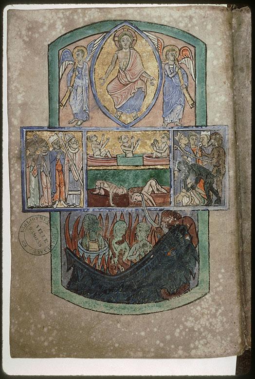 Psautier-hymnaire à l'usage de l'abbaye Saint-Fuscien-aux-Bois - Jugement dernier_0