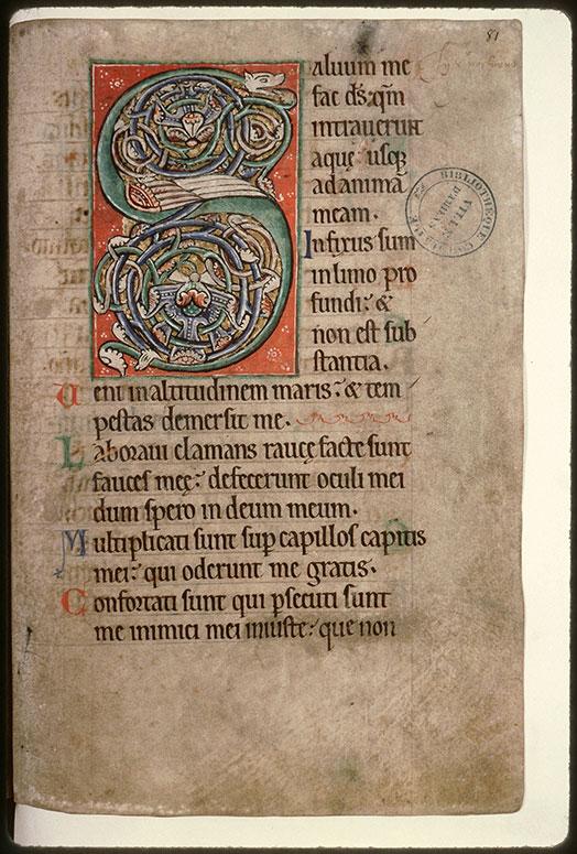 Psautier-hymnaire à l'usage de l'abbaye Saint-Fuscien-aux-Bois - Hybride zoomorphe_0