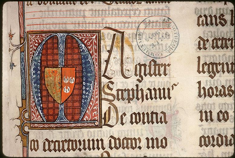 Bréviaire à l'usage de l'abbaye Saint-Pierre de Corbie - Armes d'Etienne de Conty_0