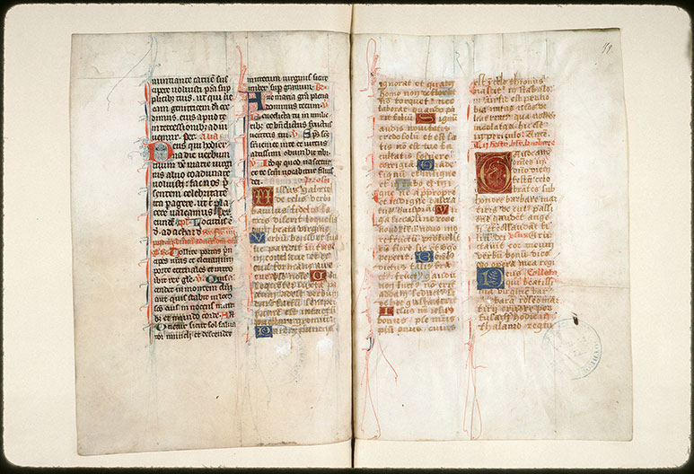 Missel à l'usage de l'abbaye Saint-Pierre de Corbie - Initiales champies et filigranées_0