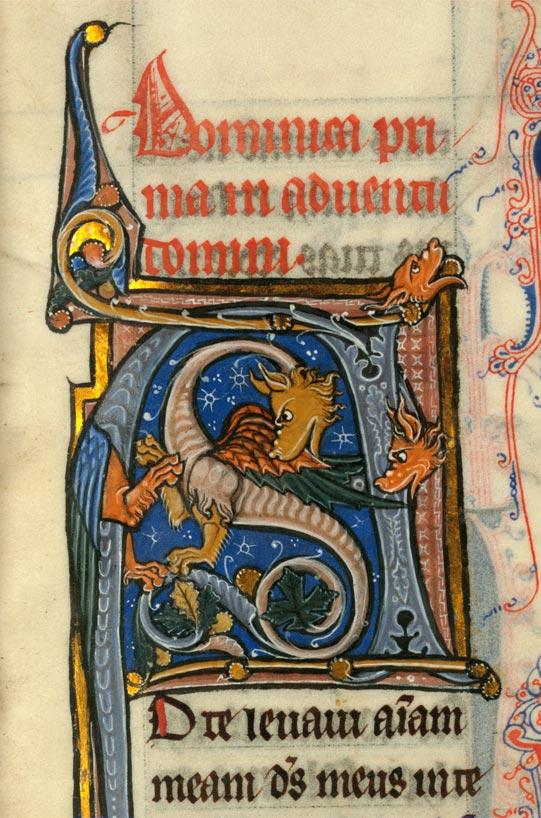 Missel à l'usage de l'abbaye de Sainte-Rictrude de Marchiennes - Hybrides zoomorphes_0