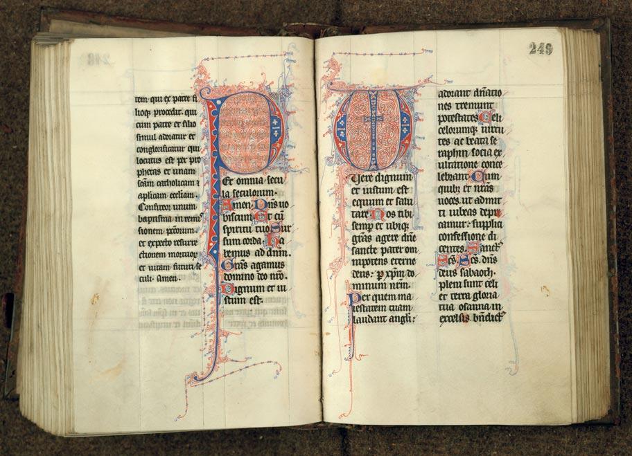 Missel à l'usage de l'abbaye de Sainte-Rictrude de Marchiennes - Initiales filigranées_0